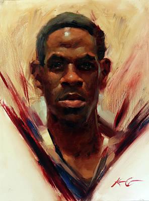 Schmid Painting - Jeffrey by Kai Lun Qu