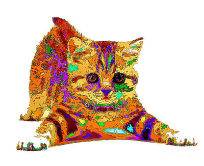 Art To Wear Digital Art - Jelly Bean The Kitty. Pet Series by Rafael Salazar