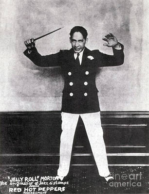 Ragtime Photograph - Jelly Roll Morton, American Jazz by Science Source