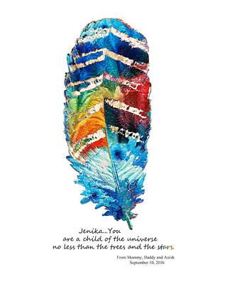 Customized Painting - Custom Art - Jenika Child Of The Universe by Sharon Cummings