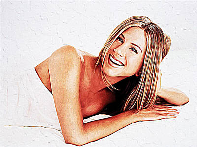 Jennifer Aniston Print by Iguanna Espinosa