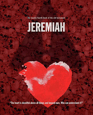 Jeremiah Books Of The Bible Series Old Testament Minimal Poster Art Number 24 Print by Design Turnpike