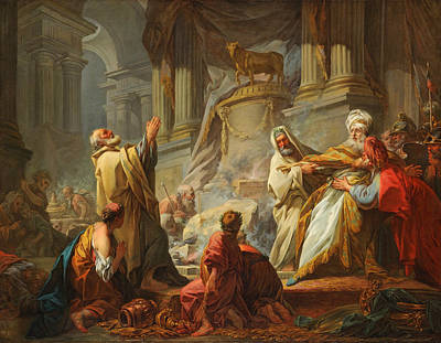 Jean-honore Fragonard Painting - Jeroboam Sacrificing To The Idols by Jean-Honore Fragonard