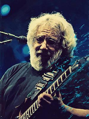 Concert Digital Art - Jerry Garcia by Afterdarkness