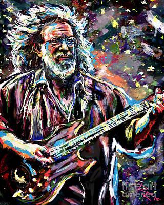 Jerry Garcia Band Mixed Media - Jerry Garcia Art Grateful Dead by Ryan Rock Artist