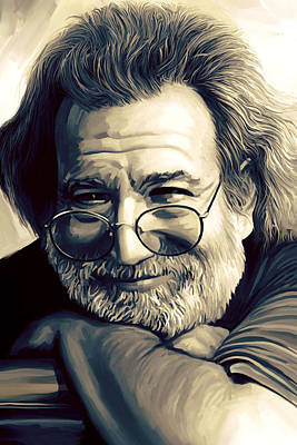 Grateful Dead Painting - Jerry Garcia Artwork  by Sheraz A