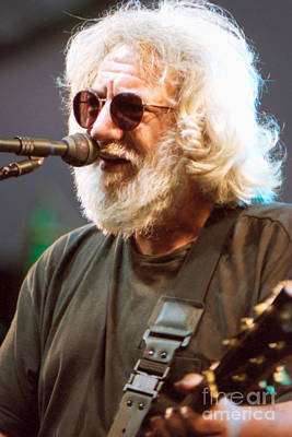 Psychedelic Rock Photograph - Jerry Garcia - Grateful Dead 1995 Chicago Il - 72 by Vintage Rock Photos