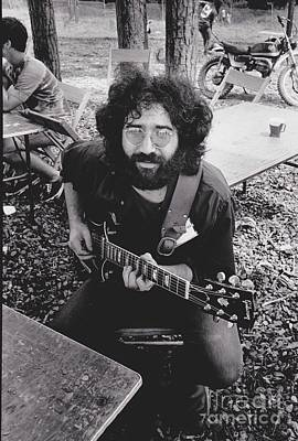 Jerry Garcia In The Park Print by Pd
