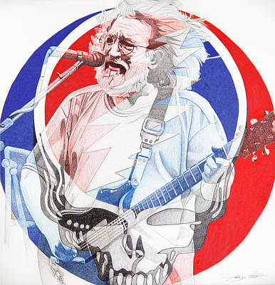 Jerry Garcia-steal Your Face Original by Joshua Morton