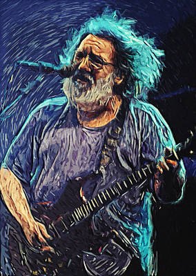 Modified Digital Art - Jerry Garcia by Taylan Soyturk