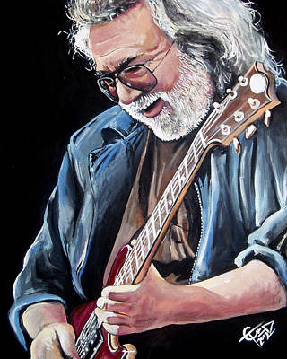 Jerry Garcia - The Grateful Dead Print by Tom Carlton