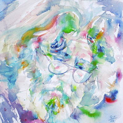 Jerry Garcia - Watercolor Portrait.10 Original by Fabrizio Cassetta