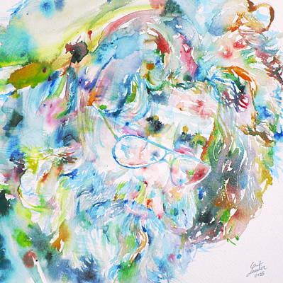 Jerry Garcia - Watercolor Portrait.9 Original by Fabrizio Cassetta