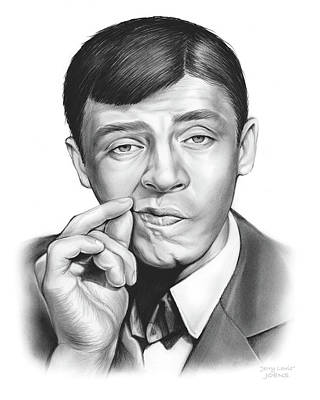 Comic Drawing - Jerry Lewis by Greg Joens