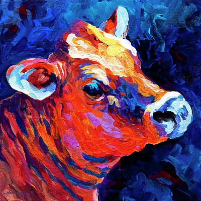 Barn Animal Painting - Jersey Girl by Marion Rose