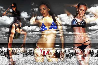 Seaside Heights Digital Art - Jersey Girls by John Rizzuto