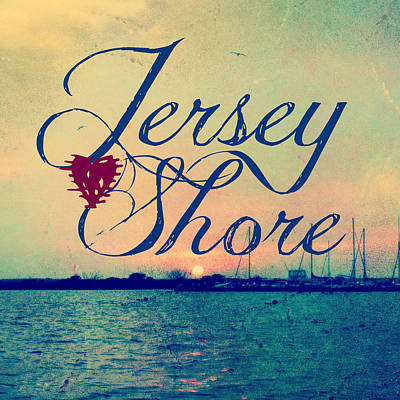 Nj Mixed Media - Jersey Shore Sunset V2 by Brandi Fitzgerald