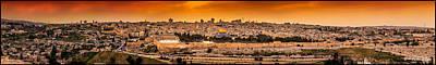 Jerusalem Photograph - Jerusalem At Sunset by Carlton De Souza