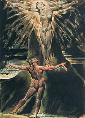 Relief Painting - Jerusalem The Emanation Of The Giant Albion by William Blake
