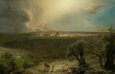 Jerusalem View From The Mount Of Olives Print by Frederic Edwin