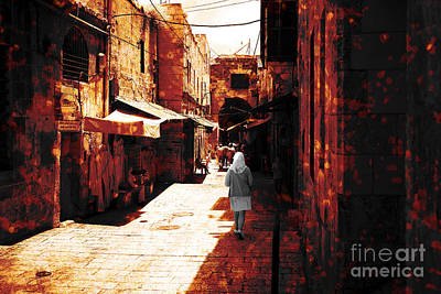 Jerusalem Walk Tote Bag Print by John Rizzuto
