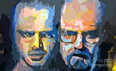 Jesse And Heisenberg Print by John Malone