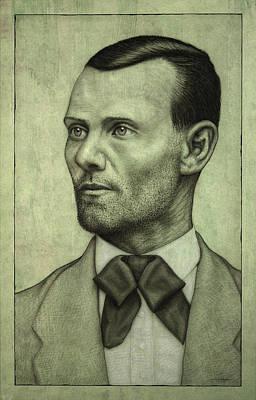 Jesse James Print by James W Johnson