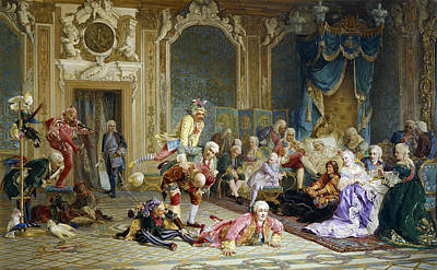 Painting - Jesters At The Court Of Empress Anna by Valery Ivanovich Jacobi