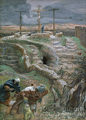 New Testament Painting - Jesus Alone On The Cross by Tissot