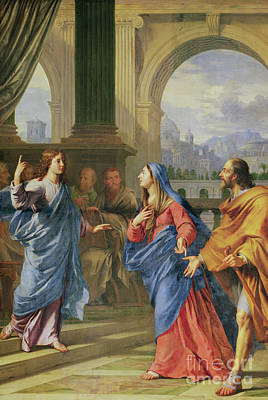 Found Painting - Jesus Among The Doctors by Philippe de Champaigne