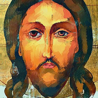 Moscow Digital Art - Jesus Christ Icon by Yury Malkov