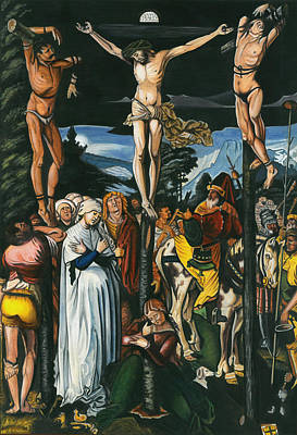 Handmade In Usa Painting - Jesus' Crucifixion In Art Illustrates One Of The Most Famous Biblical Moments, Miniature Artwork. by A K Mundra