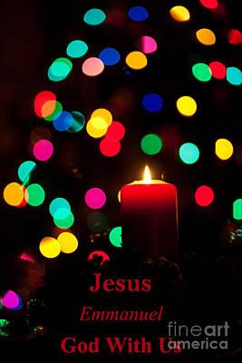 Winter Scenes Photograph - Jesus Emmanuel God With Us by Wayne Moran