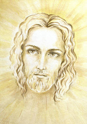 Jesus In Light Print by Stoyanka Ivanova