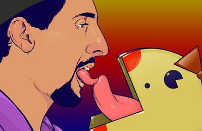 Jesus Loves Miss Pacman  Print by Jason  Wright