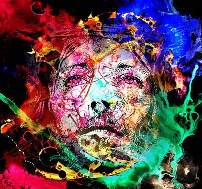 Jesus Loves You - Heavens On Fire Print by Sir Josef - Social Critic - ART
