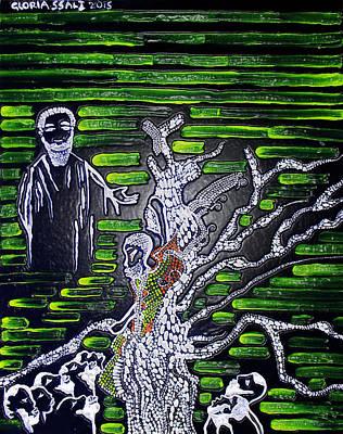 Gloria Mixed Media - Jesus Meets Zacchaeus by Gloria Ssali