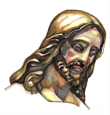 Jesus Drawing - Jesus No 3 by Edward Ruth