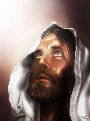 Jesus Wept Print by Mark Spears