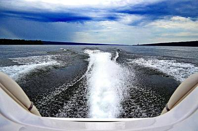 Wakeboarding Photograph - Jet Boat Out Running Storm by JD Bennett