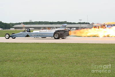 Jet Powered Funny Car Print by Eric Irion