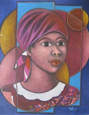 Haitian-art Painting - Jeune Fille En Rose by Keller