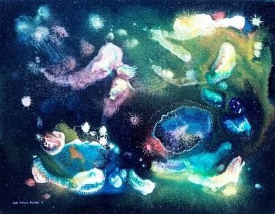 Jeweled Pegasus Print by Lee Pantas