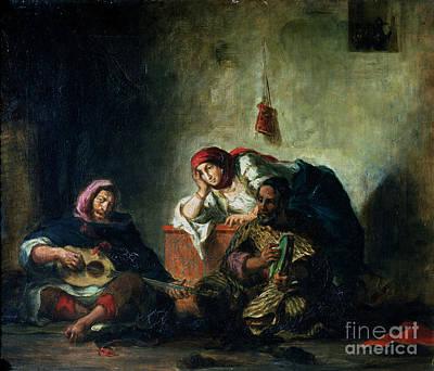 Jewish Musicians In Mogador Print by Eugene Delacroix
