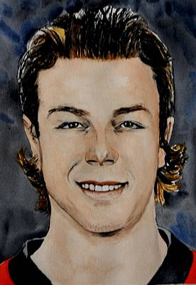 National Hockey League Painting - J.g. Pageau by Betty-Anne McDonald