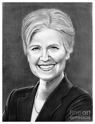 Famous People Drawing - Jill Ellen Stein by Murphy Elliott