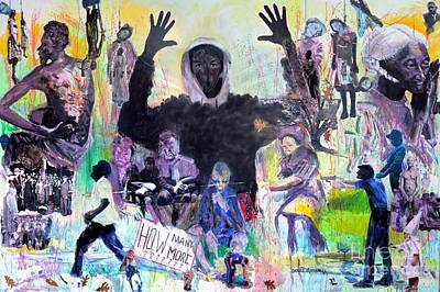 Jim Crows Child And Strange Fruit Original by Charles M Williams