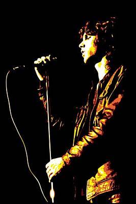 Concert Digital Art - Jim Morrison by DB Artist