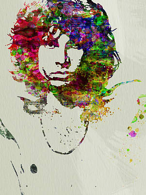 Watercolor Painting - Jim Morrison by Naxart Studio