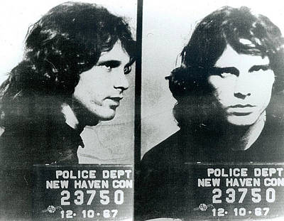 Pop Culture Painting - Jim Morrison Mug Shot Horizontal by Tony Rubino